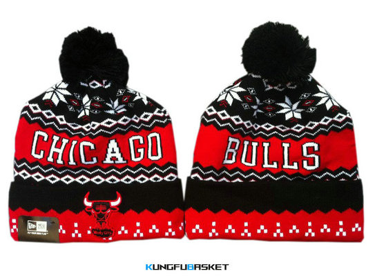 Kungfubasket 0683 - Bonnet Chicago Bulls - [Rouge/Noir]