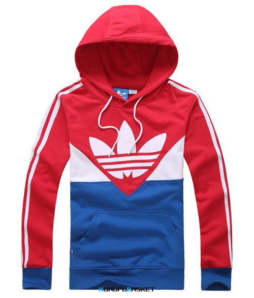 Kungfubasket 1164 - SWEAT SHIRT ADIDAS - Rouge/BLUE
