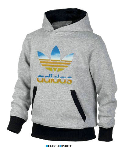 Kungfubasket 1166 - SWEAT SHIRT CAPUCHE ADIDAS