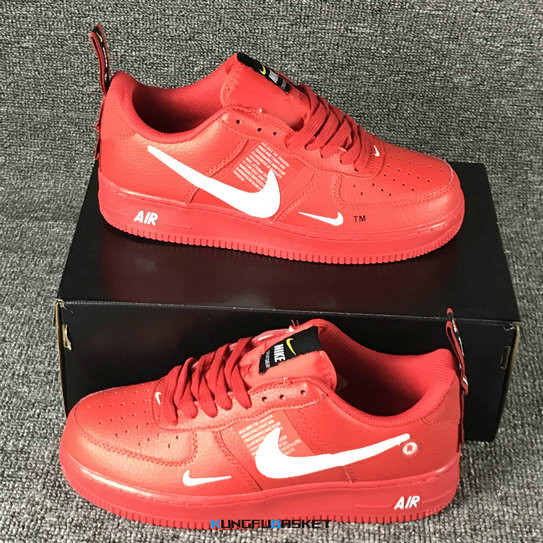 Kungfubasket 3237 - Air Force 1 Low Rouge/Blanc