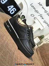 Kungfubasket 3240 - Air Force 1 Low Upstep Noir