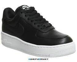 Kungfubasket 3241 - Air Force 1 Low Upstep Noir/Blanc