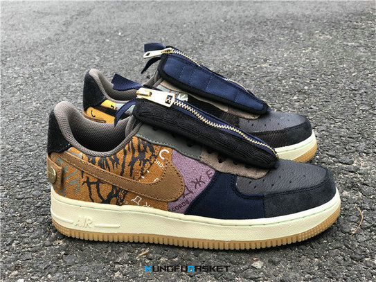 Kungfubasket 3288 - Travis Scott x Air Force 1 Low Multi-Color