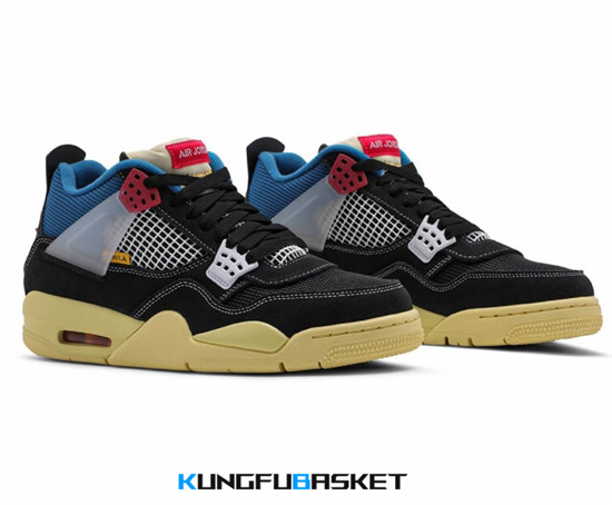 Union x Air Jordan 4 Off Noir Des baskets pas cher