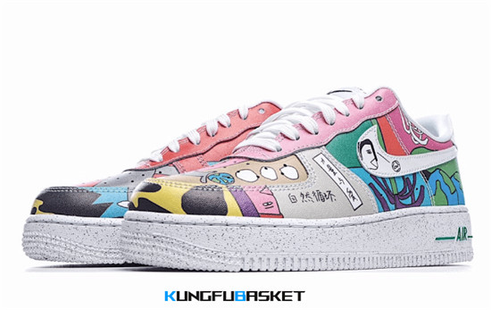 Ruohan Wang x Air Force 1 Low 'White Multi' Des baskets pas cher