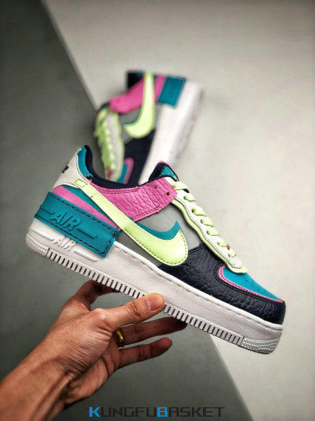 Kungfubasket Wmns Air Force 1 Shadow 'Multi/Electric' fr205068